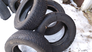4 195/65/15 Goodyear Nordic studded tires