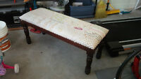 """Bench from Wicker Emporium, """"Bollywood"""" in Natural"""