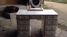 SHABBY CHIC PROJECT!! DRESSING TABLE AND MIRROR