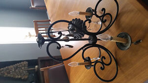 Black and crystal chandelier light