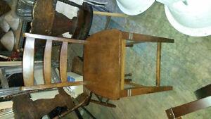 Pub height wood table set Kitchener / Waterloo Kitchener Area image 2