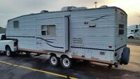 2002 25' JAYCO 5TH WHEEL LITE-FOR HALF TON TRUCK SLIDE MINT COND