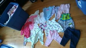 Tote Full of Baby Girl Clothes (3-6mo)