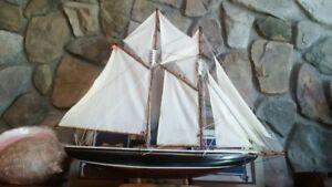 model Bluenose ship