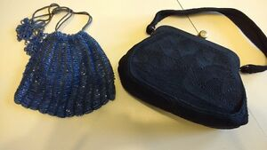 Beautiful Antique Beaded Cluch PursesWhite, Black, Blue London Ontario image 4