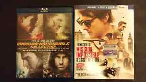 5 blu-ray Mission impossible (DVDs seperate)