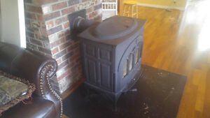 Large cast wood stove.