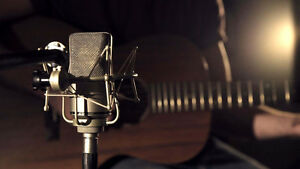 RECORDING STUDIO: guitar microphones keyboard speakers imac came