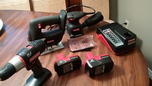 Craftsman 19.2 V Lithium Power Tool Package Drill/Jigsaw/Sander