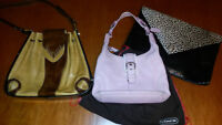 3 Leather Purses including COACH