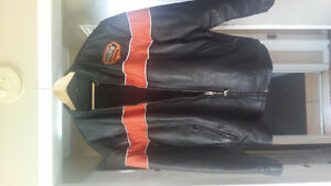 2 leather riding coats
