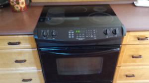 Slide in convection stove