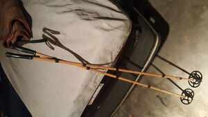 VERY RARE! BAMBOO SKI POLES- VINTAGE, MADE IN FINLAND