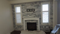 FIREPLACE MAKEOVER   by stone veneer      $ 499.. and up