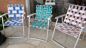 Vintage lawn chairs 10 each