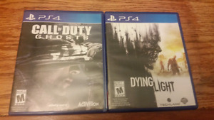 Cod: ghosts and dying light for Ps4