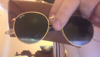 ray-ban made in Italy round metel aviators