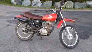 1977 honda xl 100 street and trail