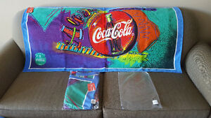 Coca-Cola Towels- 76 cm x 152 cm - Made in Brazil - Year 1997