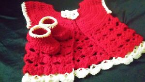 Pretty Dress & Booties For Baby