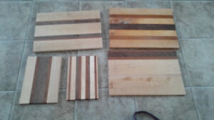 Homemade wooded cuttimg boards for sale.