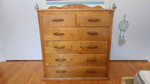 ***ONE OF A KIND*** SOLID WOOD HAND MADE ANTIQUE DRESSER