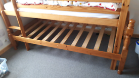 Single bed solid pine
