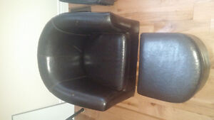 Childs leather chair