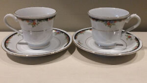 Set of two Lynns Fine China tea cups and saucers  - both for $5