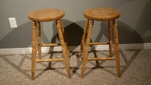 Solid wood swivel stools and regular stools Kitchener / Waterloo Kitchener Area image 2