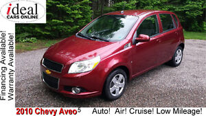 2010 Chevy Aveo 5 LT Hatchback--Automatic!-Air! Only $24/week!