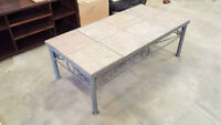 Metal Frame and Ceramic Top Table