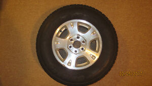 4 GM Aluminum Rims and All Season Tires for Chevy Truck 1500