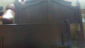 Headboard and footboard. Rungs not included.