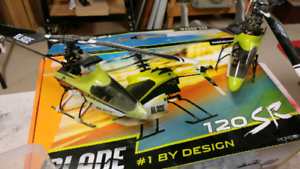 Two Rc blade sr helicopters