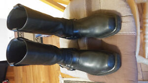Harley davidson leather motorcycle boots brand new