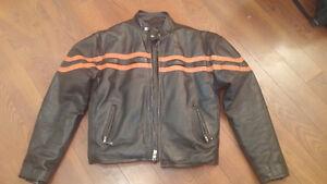 Large Genuine Leather Motorcycle Jacket