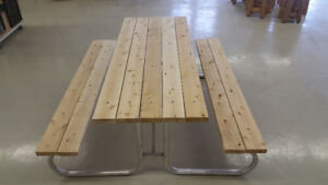 6ft Cedar and Aluminium Picnic Table