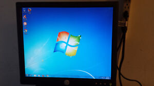 "17"" Dell LCD Monitor with HDMI adapter"