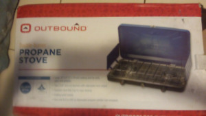 Outbounds propane two burner cooking stove mint new !!