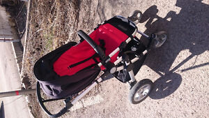 Stroller with seat, real bassinet/carrycot, carseat adapter
