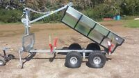 ATV trailer with dumping box and crane