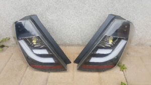 Honda Fit tail lights LED Smoke Black - Feux arriere 2009-2014