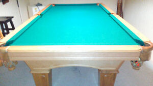 Olhousen solid pine maple in color pool table