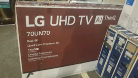 LG 70 inch UHD 4K smart new boxed tv