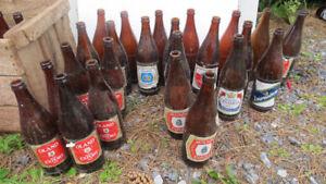 old beer bottles(empty)