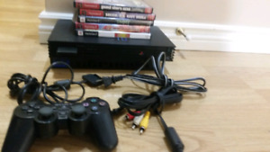 Ps2 everything needed to play + 5 games