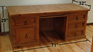 Large Wood Desk For Sale