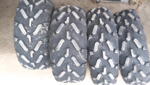 Like new atv tires 26x8x12 and 26x9x12
