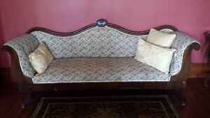 Antique Couch & Two Antique Settees